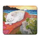 Mousepad Mat pad from art painting Cat Mermaid 26 Turtle