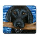 Mousepad Mat pad from art painting Dog 41 Black Labrador