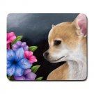 Mousepad Mat pad from art painting Dog 77 Chihuahua Flowers