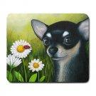Mousepad Mat pad from art painting Dog 79 Chihuahua Flower Ladybug