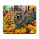Mousepad Mat pad from art painting Hare 40 Rabbit Fall Autumn