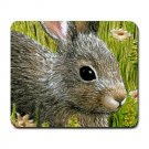 Mousepad Mat pad from art painting Hare 45 Rabbit