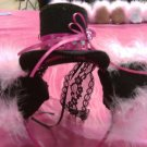 Mini Lolita Hat with Ears - Hello Kitty (Green Feathers)