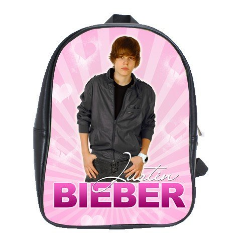 Custom Justin Bieber Backpack (Pink)