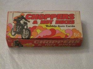 1972 Donruss CHOPPERS & HOT BIKES Gum Cards Wax Box