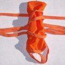 K348A HOT SEXY Men Wrap & Strap Up Semi-C-Thru Sleeve Wear Orange