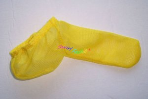 K335N HOT SEXY MEN CONTOURED POUCH Sleeve Mesh Yellow