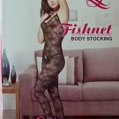 W3037 SEXY WOMEN SPIDER WEB FISHNET BODY STOCKING Black