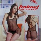 W3014 SEXY WOMEN FISHNET BODY TOP Black