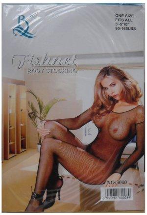 W3010 SEXY WOMEN FISHNET BODY STOCKING Black