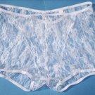 K122 HOT MEN BOXER BRIEF Contoured Pouch Floral Lace white