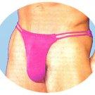 H1521 HOT SEXY MENs Swim Thong Double Waist Purple