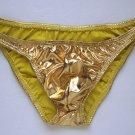 K318R Metallic MEN SEXY SWIMWEAR TRICOT BIKINI LOW RISE Gold