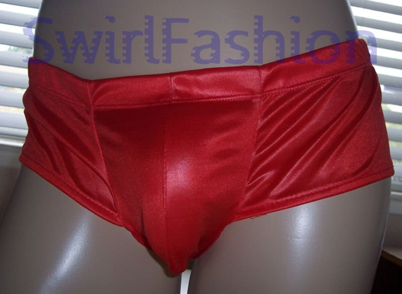 K684 HOT MEN MESH HIPSTER PANTIES BRIEF Pouch red