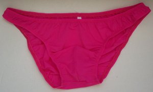 K1571B Hot Mens Sexy Bikinis Soft Smooth Silky Tricot Knit M fuchsia