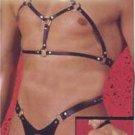 RF962 Hot Sexy Mens Leather-like PVC BondageCollar Thong Vinyl black