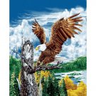 American Eagle Bird Colorful Sky Trees Water Queen Mink Style Blanket