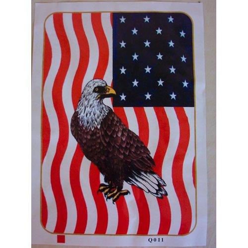 Bald Eagle American Flag Queen Mink Style Blanket Wild Bird Animal Cover