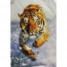 Orange Black Strip Tiger Big Cat Queen Mink Style Blanket