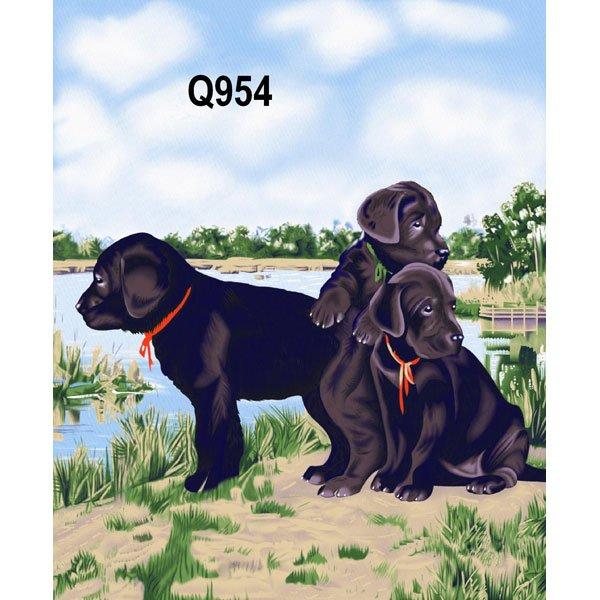 Black Lab Puppy Dogs Animal Theme Queen Mink Style Blanket