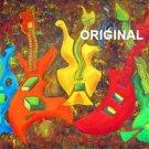 Five Guitars Cross Stitch Pattern Musical Instruments ETP