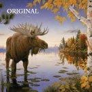 Autumn Moose Cross Stitch Pattern ETP