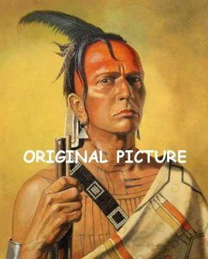 Cherokee Brave Cross Stitch Pattern Native American ETP