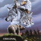 Wolf Eagle Hawk Bear Lynx Cross Stitch Patern Native American ETP