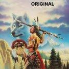 Native Wolf Cross Stitch Pattern Indian Tribe ETP