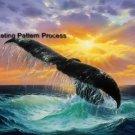 Whale of a Tail Cross Stitch Pattern Marine Cetacean ETP