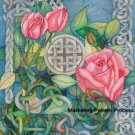 Celtic Rose Cross Stitch Pattern Gaelic ETP