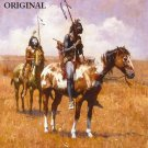 Indian War Paint Cross Stitch Pattern Native American ETP