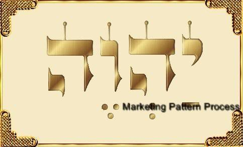 YHVH Cross Stitch Pattern Jewish Christian ETP