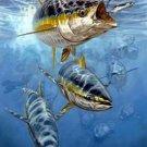 School of Tuna Cross Stitch Pattern Game Fish ETP