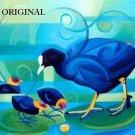 Coot & Chicks Cross Stitch Pattern Birds Art ETP