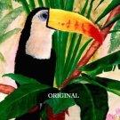 Tropical Toucan Cross Stitch Pattern Birds ETP