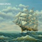 Ship at Sea Cross Stitch Pattern Maritime ETP