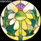 Scottish Thistle 1 Cross Stitch Pattern Stained Glass Look ETP