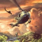 Military Helicopter Cross Stitch Pattern Aircraft ETP