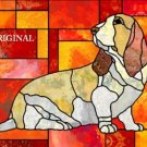 Basset Hound Stained Glass Look Cross Stitch Pattern ETP