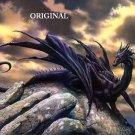 The Black Dragon Cross Stitch Pattern Fantasy ETP