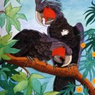 2 Black Palm Cockatoos Cross Stitch Pattern Parrots Birds ETP