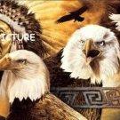 Indian Eagle Motif Cross Stitch Pattern Native American ETP