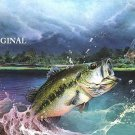 Bass After Dragon Fly Cross Stitch Pattern Waterlife Fish ETP