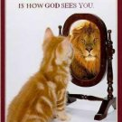 How God Sees You Cross Stitch Pattern Christian Cats ETP