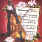 Violin Flowers Cross Stitch Pattern Music Fiddle ETP