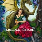 Fantasy Dragon Fruit Cross Stitch Pattern Celtic ETP