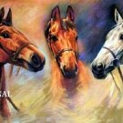3 Horses Portrait Cross Stitch Pattern ETP
