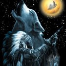 'Wolf in The Moon' Cross Stitch Pattern Wolves Dogs ETP