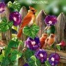 Cardinal Family Cross Stitch Pattern Birds ETP